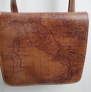 Patricia nash leather map crossbody
